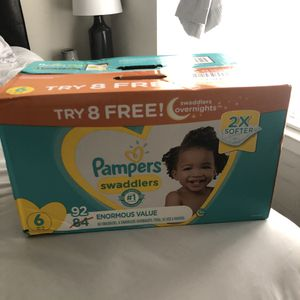 Pampers size 6 for Sale in Dallas, TX