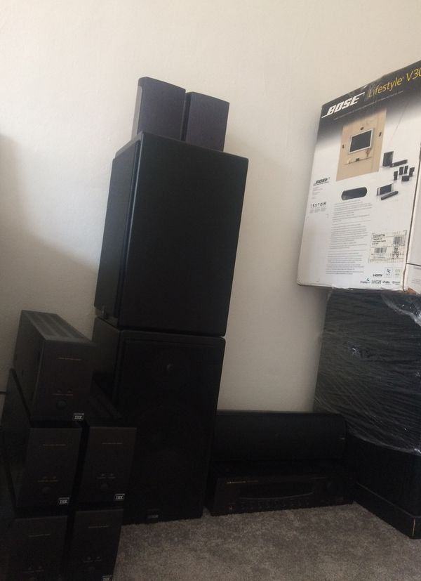 Audio system amps complete professional