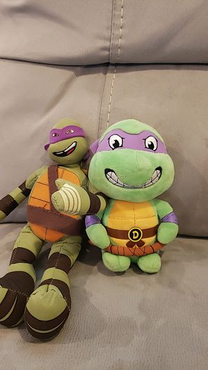 Two ninja turtles plushies for Sale in Rancho Cordova, CA