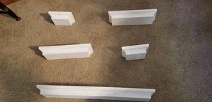 Set of 5 white wall shelves for Sale in Delray Beach, FL