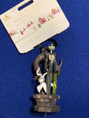 NIGHTMARE BEFORE CHRISTMAS SKETCHBOOK ORNAMENT JACK SKELLINGTON & ZERO for Sale in Chula Vista, CA
