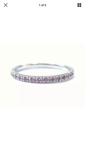 Fine gem pink sapphire eternity ring .40ct size 6 for Sale in Los Angeles, CA