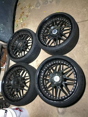 Carbon fiber 3pc wheels for Sale in Dixon, CA