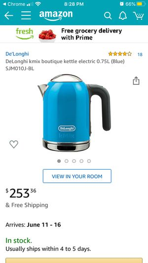 DeLonghi kmix boutique kettle electric 0.75L. GOOD CONDITION USED FOR ABOUT A MONTH $125 OBO. LOCATED IN SAN CLEMENTE for Sale in San Clemente, CA