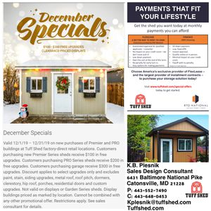 """We build """"Custom Made"""" sheds/garages/barns/ studios designed by customers for Sale in Catonsville, MD"""