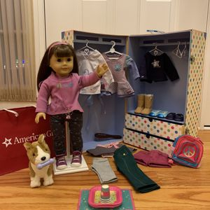 American Girl «Truly Me» + Corky Dog+ Wardrobe for Sale in Lansdale, PA