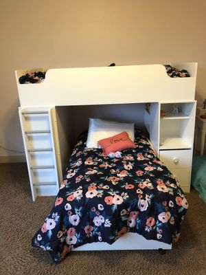 New loft bunk bed with desk and storage for Sale in Portland, OR
