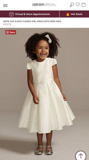 David's Bridal flower girl dress - Never Worn - size 10 for Sale in Altamonte Springs, FL