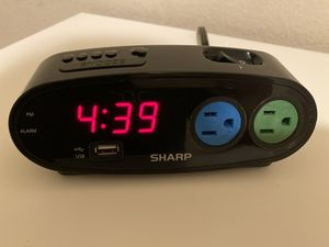 Digital Alarm Clock with Power Outlets and USB Charge Port for Sale in San Diego, CA