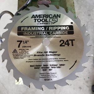 """4 New 7 1/4"""" circular saw blades for Sale in Kennewick, WA"""