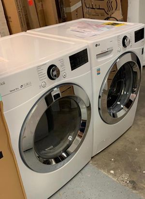 Brand New out of box LG front load 4.5 washer and electric dryer 1 year Manufacture warranty! for Sale in Pleasanton, CA