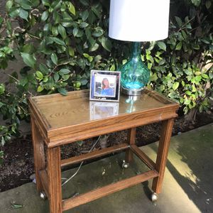 Wow! This table has multiple applications. be used as a side table, bar cart, or bedside table just to name a few. Solid construction. Top class c for Sale in Chico, CA