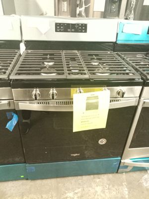 NEW SCRATCH AND DENT WHIRLPOOL STAINLESS STEEL 5 BURNERS GAS STOVE W/6 MONTHS WARRANTY for Sale in Baltimore, MD