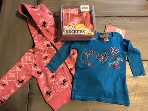 Baby cowgirl clothes, cowboy boots for Sale in Puyallup, WA