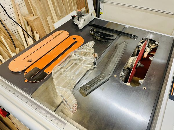 """Ridgid R4512 10"""" contractor table saw WITH EXTRAS!!"""