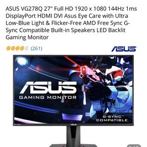 ASUS Gaming Monitor Screen for Sale in Fitzgerald, GA
