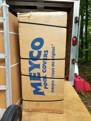 Meyco Swimming Pool Mesh Safety Cover 20 x 40 with 4 x 8 ces. for Sale in East Providence, RI
