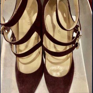 Ladies Dressy Classy Wine/Burgundy Heeled Shoes 8.5 (NEVER USED) for Sale in Manassas, VA