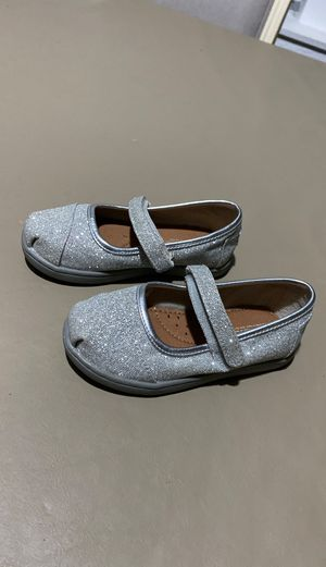 TOMS TODDLER SILVER SHOES for Sale in Chicago, IL