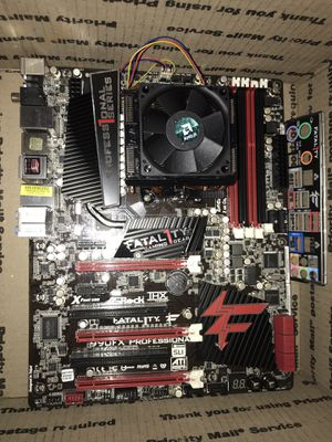 As rock Fata1ty 990FX pro-Motherboard with 8 core AMD 8210 CPU for Sale in San Jacinto, CA