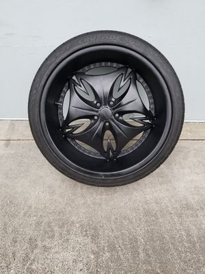 """22"""" dub rims and tires for Sale in Steilacoom, WA"""
