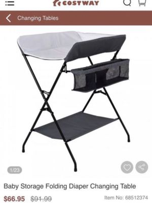 Baby Storage Folding Diaper Changing Table for Sale in Rialto, CA
