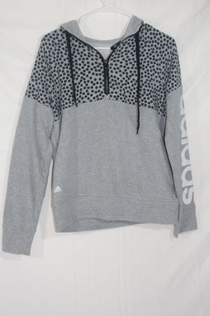 Adidas Women's Hoodie Grey and Black Size M Pullover Sweatshirt for Sale in Orlando, FL