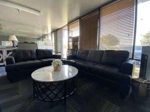 Sofa and love seat in bonded leather for Sale in San Jose, CA