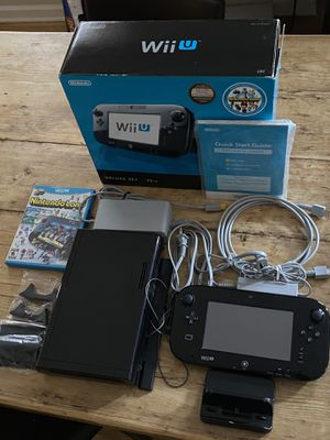 Wii U Black 32GB Deluxe for Sale in Chicago, IL