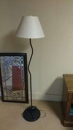 Cucute lamps, magazine rack, and folding wood chair $20 each item priced to sell tonight for Sale in Gresham, OR