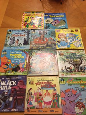Vintage see and read books and records Disney for Sale in Yelm, WA