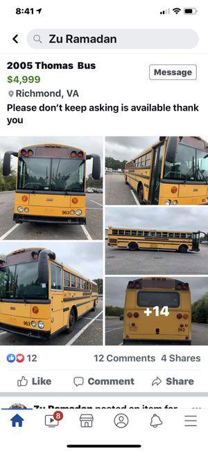 Thomas Bus for Sale in Richmond, VA