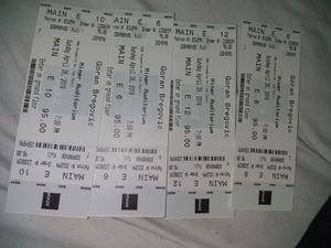 4 Goran Bregovic Tickets at Miner Auditorium...Sun, Apr 28th- 7pm for Sale in San Francisco, CA