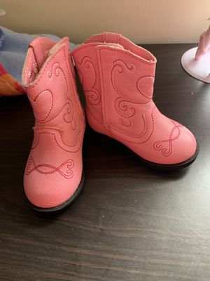 Baby girl boots size 3 both pairs for Sale in Jacksonville, FL