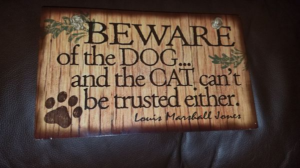 Funny wooden decorative sign