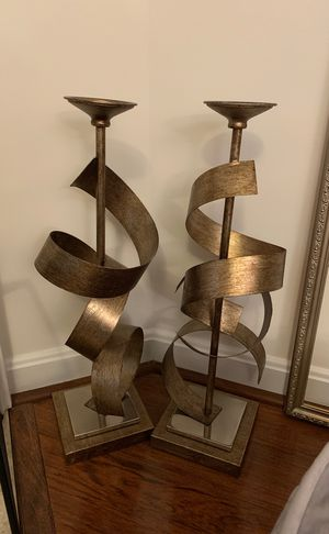 Pillar candle holders (2) for Sale in Fairfax, VA