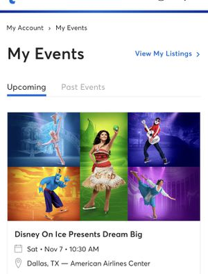 DISNEY ON ICE for Sale in Irving, TX