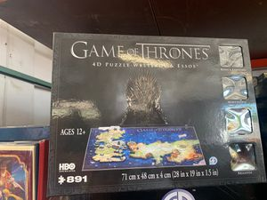 891 piece game of thrones puzzle 4d for Sale in Phoenix, AZ