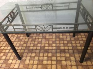 Dining room table (w glass top) & 4 chairs for Sale in Farmington, PA