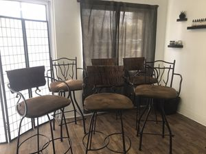 Beautiful leathered, seated bar stools for sale! for Sale in Englewood, CO