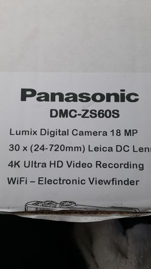 Panasonic Lumix digital camera 18mp, 4K Ultra HD 30x zoom w/Wifiultra HD also Video recorder -with electronic zoom finder for Sale in Tacoma, WA