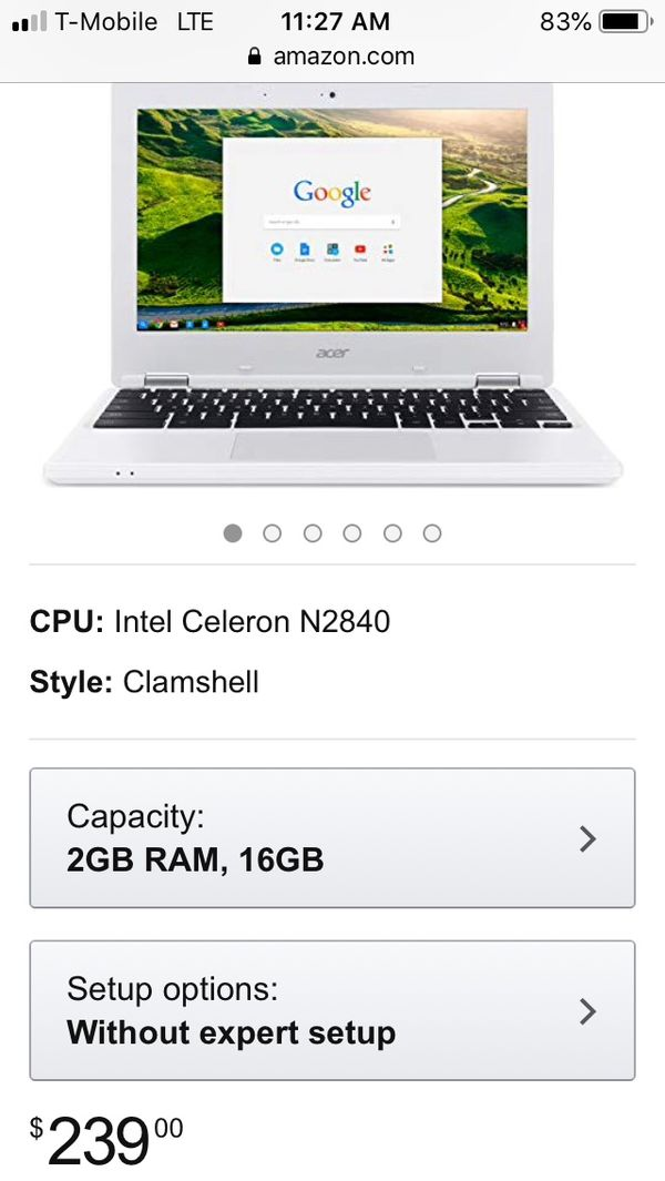Acre Chromebook (Unlocked) 100$ can lower price