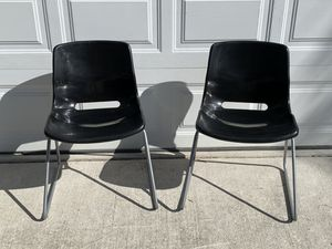 Pair of Black IKEA Snille Chairs for Sale in New Port Richey, FL