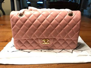 Chanel Caviar Double Flap Quilted Lambskin Medium size Soft Pink Bag for Sale in Kennesaw, GA