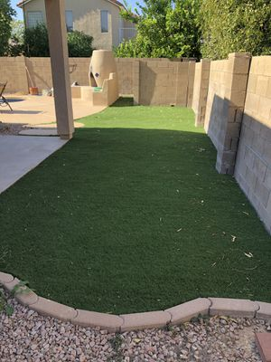 Quality Used fake grass— INFILL FREE- lightweight and easy to transport. for Sale in Mesa, AZ