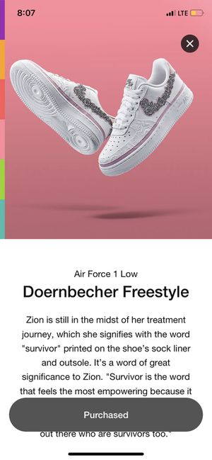 Nike Air Force 1 doernbecher freestyle for Sale in Seattle, WA