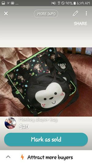 Monkey diaper bag for Sale in Chillicothe, IL