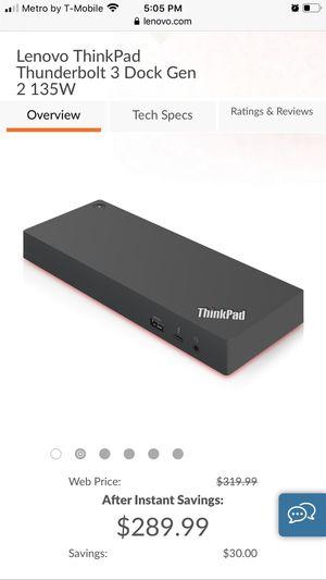 Lenovo Thinkpad thunderbolt 3 dock gen 2 for Sale in Bakersfield, CA