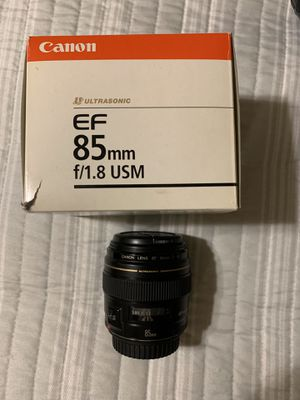 Canon 85mm f1.8 for Sale in Fontana, CA