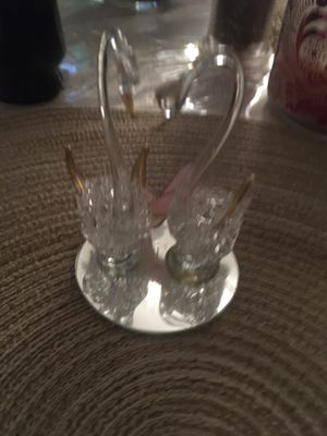 Decorative handblown glass swans for Sale in Hyattsville, MD